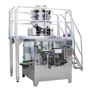 Automatische droge fruitzak vullende verpakking die machinesmachine maakt