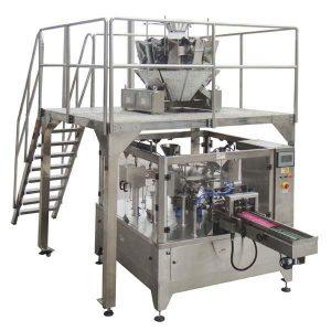 De roterende Automatische Ritssluitingszak vult de Machine van de Verbindingsverpakking voor zadennoten