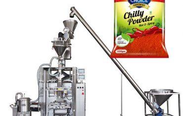 vffs bagger verpakkingsmachine met vijzelvuller voor paprikapoeder en chilipoeder