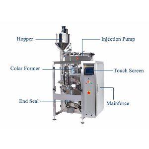 De verticale Vorm vult Verbindingsmachine met Pistionvuller voor Vloeistof
